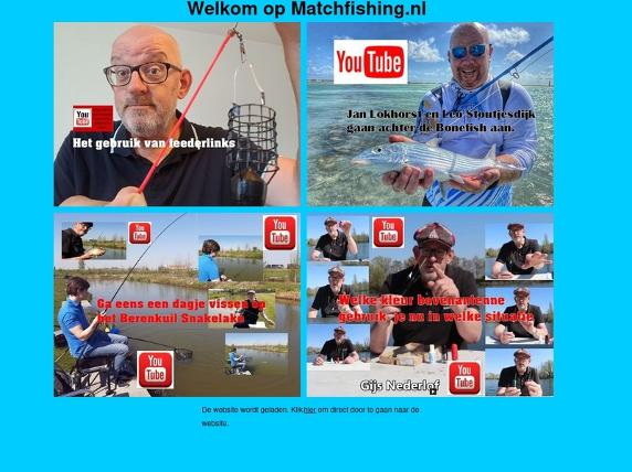 Screenshot von http://www.matchfishing.nl